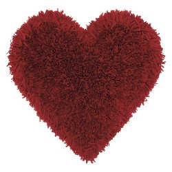 Mina Victory Frame Heart Shag Throw Pillow