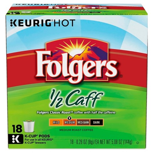 Folgers® Half Caff Medium Roast Coffee - K- Cup Pods - 18ct - image 1 of 1