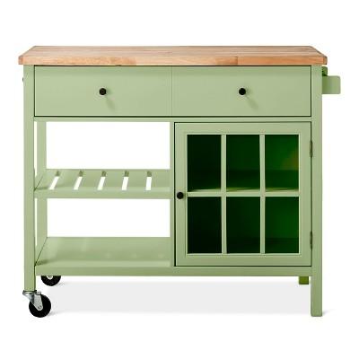 Windham Wood Top Kitchen Island Green Garnish - Threshold™