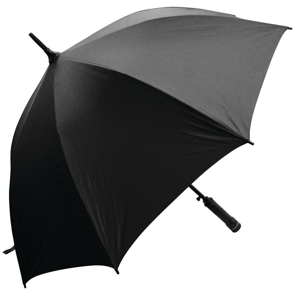 Image of Creative Outdoor Distributor Bree-Z Brella Stick Umbrella with Built-in Fan - Black
