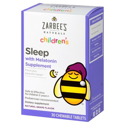 Zarbee's Naturals Children's Sleep with Melatonin Chewable Tablets - Natural Grape - 30ct