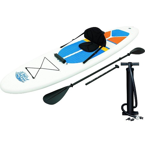 Bestway Hydro-Force 10 Foot Inflatable Stand Up Paddle Board SUP & Kayak, White - image 1 of 4