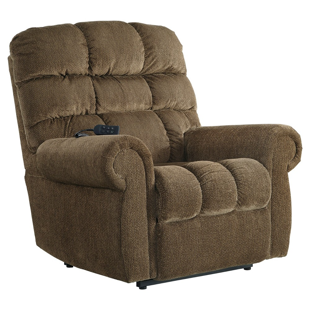 Ernestine Power Lift Recliner - Truffle - Signature Design by Ashley, Brown