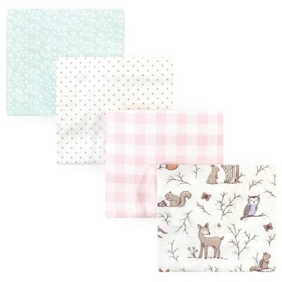 Hudson Baby Unisex Baby Cotton Flannel Receiving Blanket - Enchanted Forest One Size