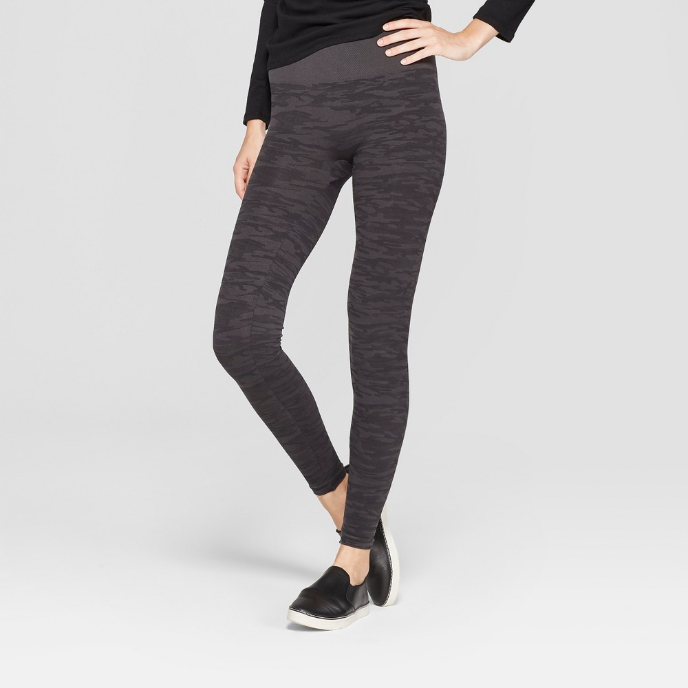 Image of Assets By Spanx Women's Camo Print Leggings - Gray L, Size: Large