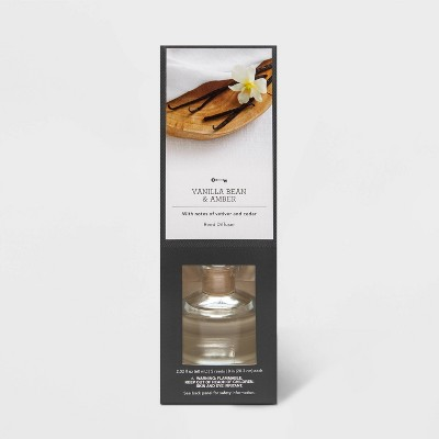 2.02 fl oz Vanilla Bean and Amber Oil Reed Diffuser - Threshold™