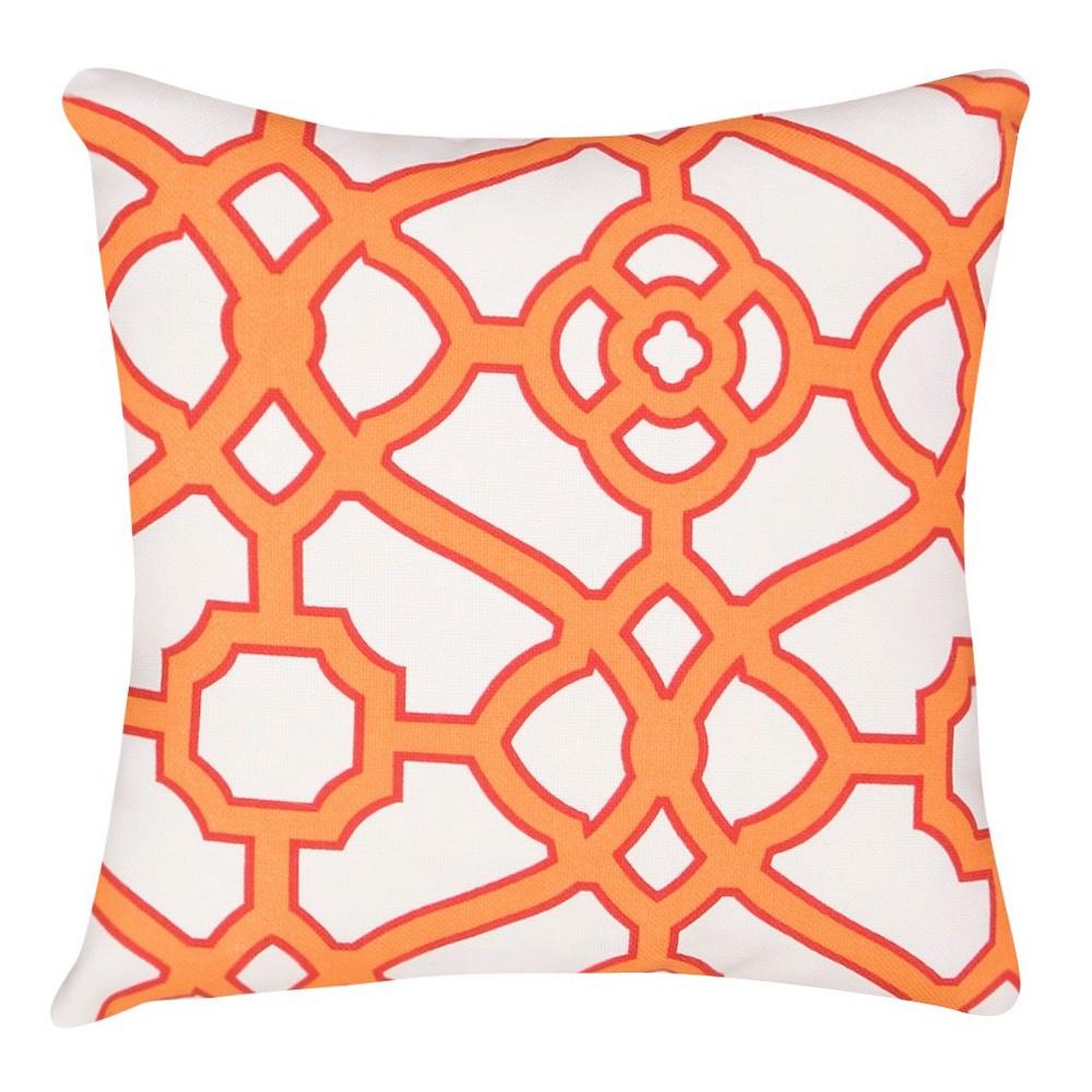 Image of Orange Veranda Pavilion Fretwork Throw Pillow - Jaipur