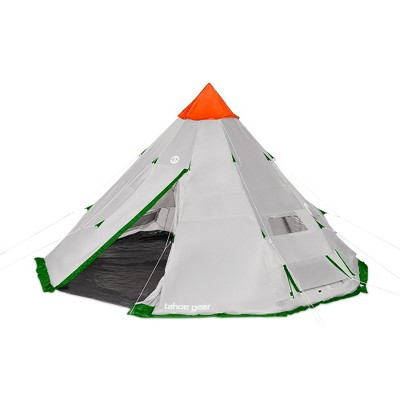 Tahoe Gear Bighorn XL 18 x 18 Feet 12 Person Waterproof Cone Shape Camping Tent