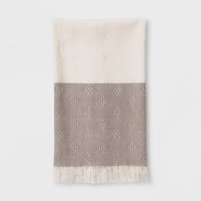 Woven Diamond Kitchen Towel Beige - Threshold™