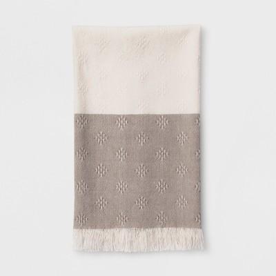 Woven Diamond Kitchen Towel Beige - Threshold™