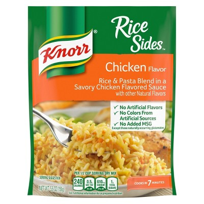 Knorr Rice Sides for a tasty rice side dish Chicken no artificial flavors 5.6oz