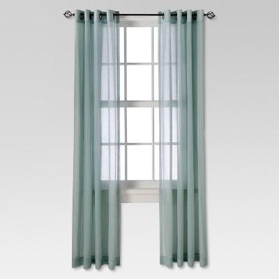 Linen Grommet Sheer Curtain Panel Blue (54 X84 )- Threshold™