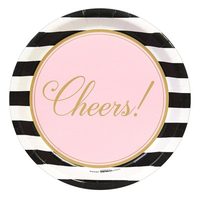8ct Cheers to You! Disposable Dinner Plates