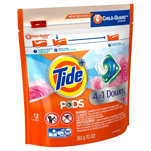Tide April Fresh Downy Liquid Detergent Pacs -12ct - image 1 of 2