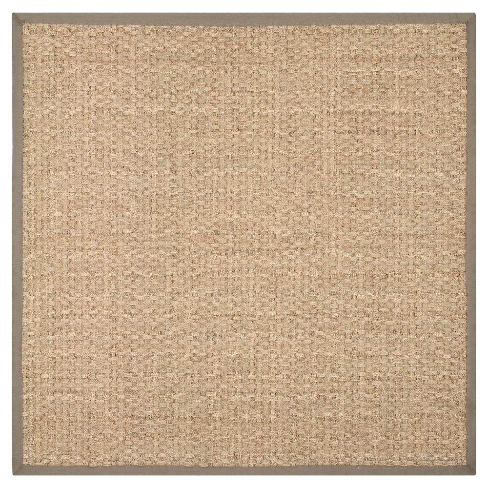 Natural Fiber Rug - Natural/Gray - (8'x8' Square) - Safavieh