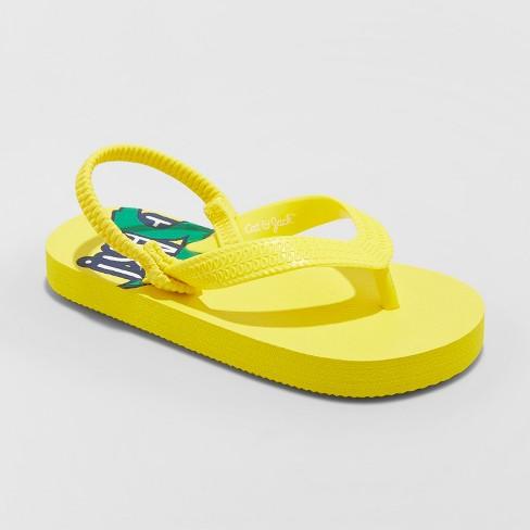 Toddler Boys' Lance Flip Flop Sandals - Cat & Jack™ Yellow - image 1 of 3