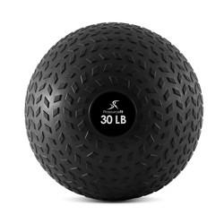 ProSource Fit 30 Pound Slam Gentle Treaded Texture Fitness Medicine Ball, Black