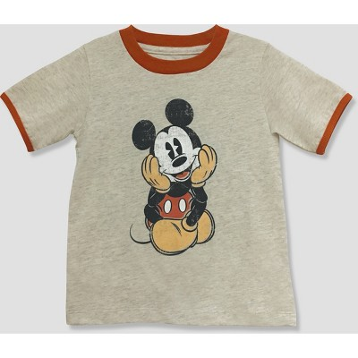 Toddler Boys' Mickey Mouse & Friends Mickey Mouse Short Sleeve T-Shirt - White 12M