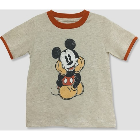Toddler Boys' Mickey Mouse & Friends Mickey Mouse Short Sleeve T-Shirt - White - image 1 of 2
