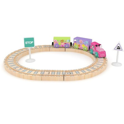 J'adore BFF Train and Rail Wooden Toy Playset