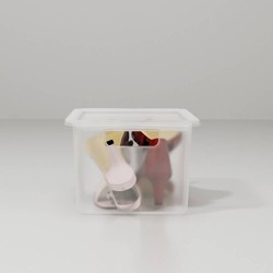 Plastic Shoe Bin Clear - Made By Design™