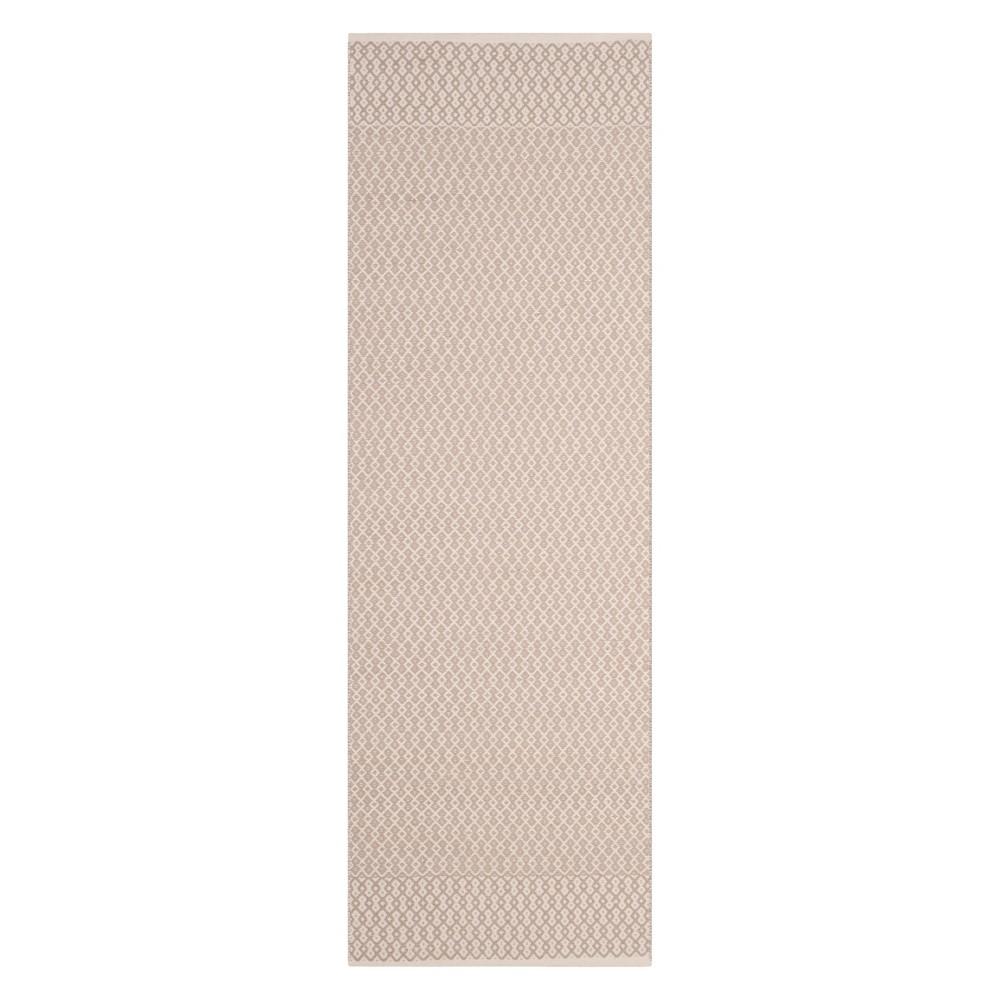 2'3X10' Geometric Woven Runner Ivory/Gray - Safavieh