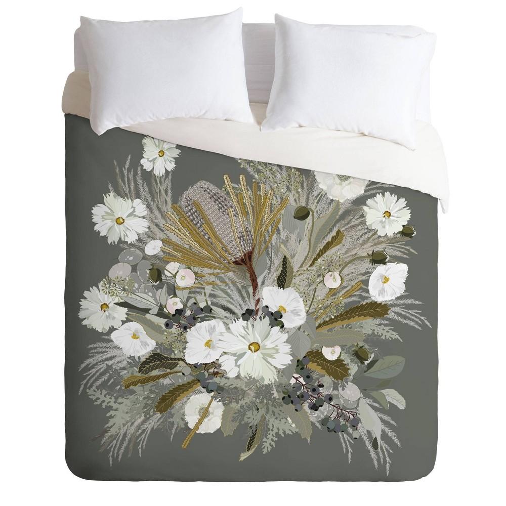 Cheap Twin/Twin XL Iveta Abolina Aspen Sage Floral Duvet Set  - Deny Designs