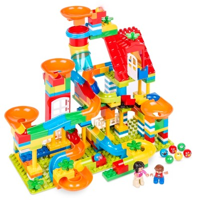 Best Choice Products Kids 247-Piece Marble Run STEM Toy Puzzle Building Blocks Race Track Set w/ Ramps, Slides, Funnels