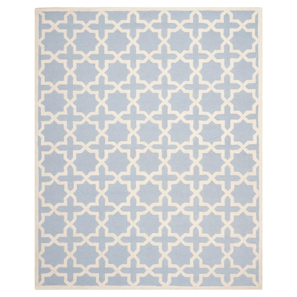 12'X18' Geometric Area Rug Light Blue/Ivory - Safavieh