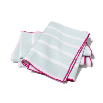 Striped Fabric Napkin Set of 4 - Aqua - vineyard vines® for Target