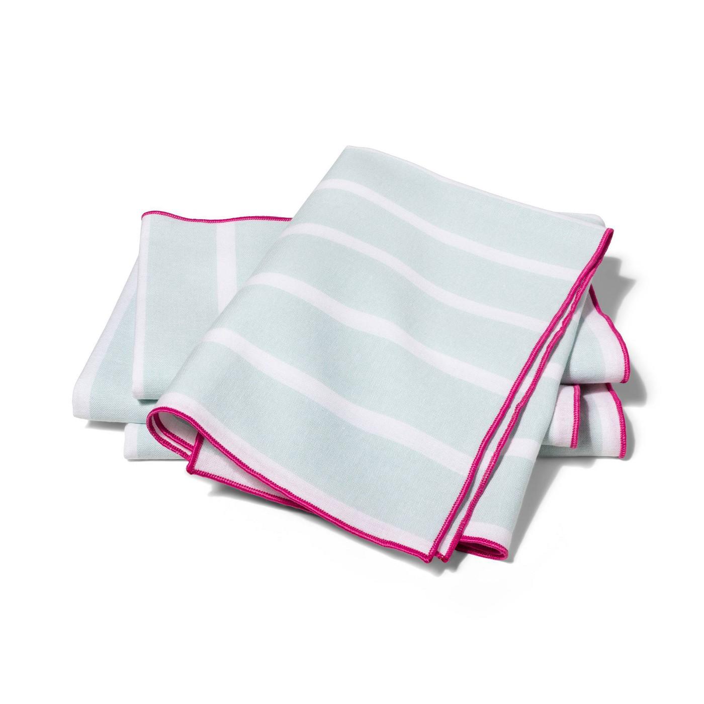 Striped Fabric Napkin Set of 4 - Aqua - vineyard vines® for Target - image 1 of 3