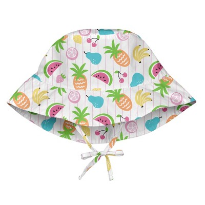 i play Baby Girls' Sun Protection Bucket Hat - White S/M