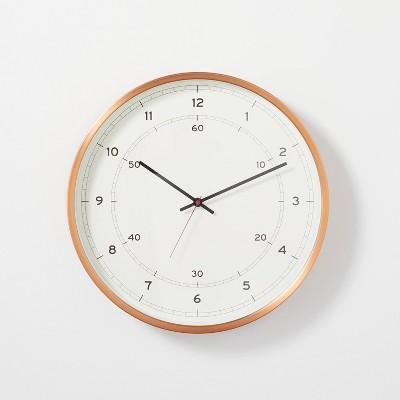 "16"" Copper Finish Analog Wall Clock - Hearth & Hand™ with Magnolia"
