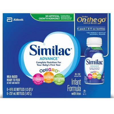 Similac Advance Infant Formula with Iron On-the-Go - 8oz/6ct