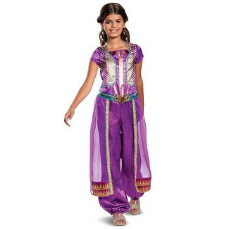 Girls' Disney Princess Aladdin Jasmine Purple Classic Halloween Costume XS