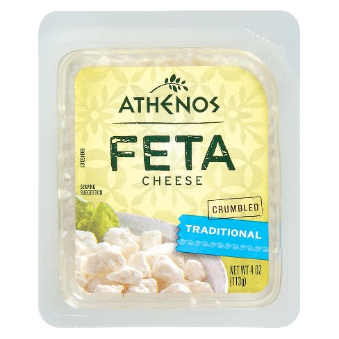 Athenos Crumbled Traditional Feta Cheese - 4oz - image 1 of 1