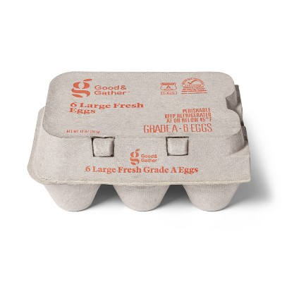 Grade A Large Eggs - 6ct - Good & Gather™