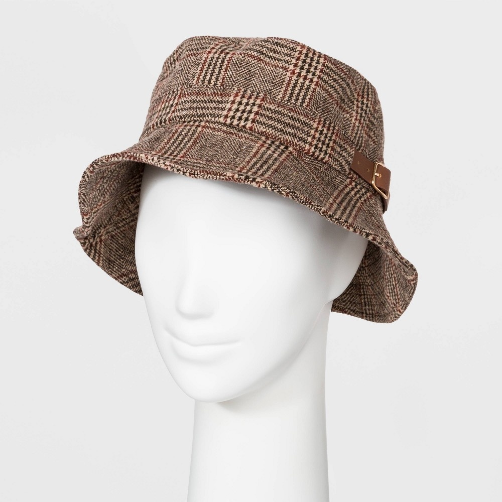 Women's Vintage Hats | Old Fashioned Hats | Retro Hats Women Bucket Hat - A New Day8482 Plaid $14.99 AT vintagedancer.com