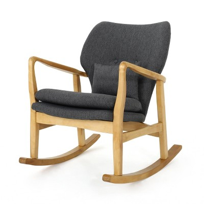 Benny Mid-Century Modern Fabric Rocking Chair - Christopher Knight Home