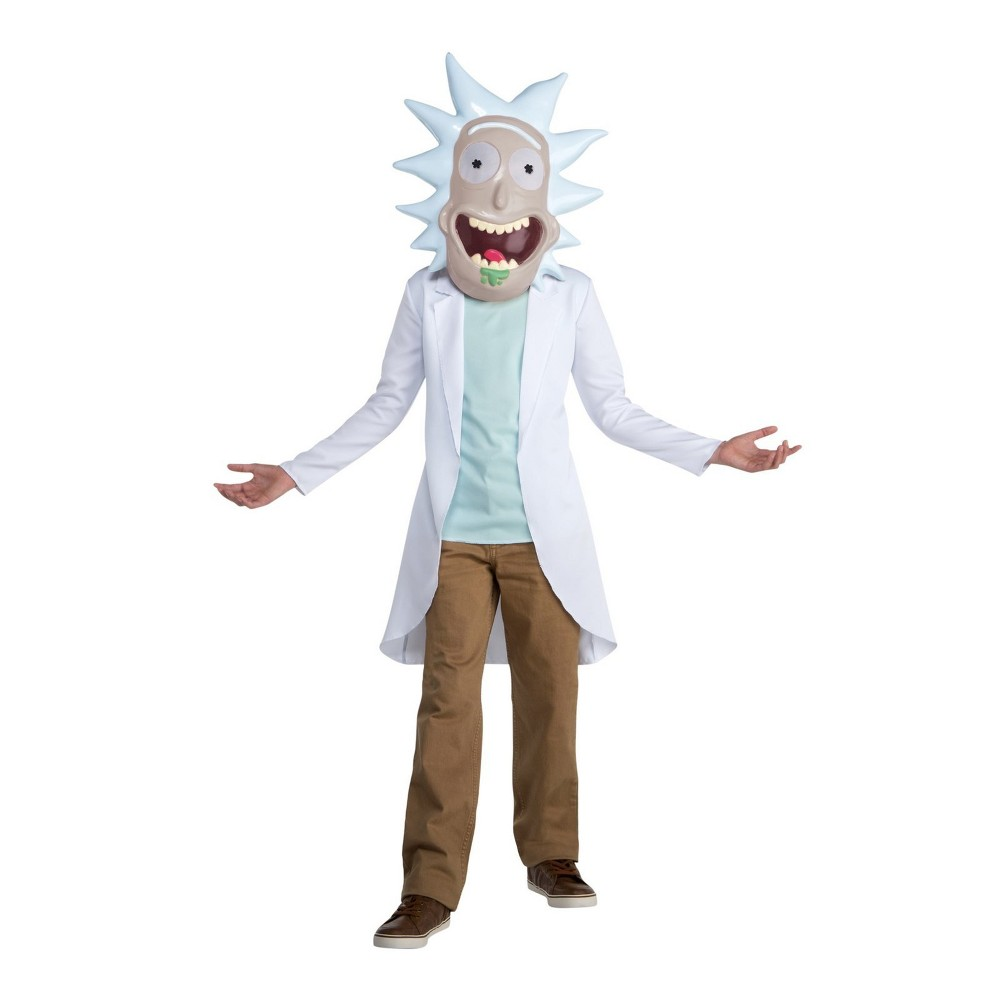 Image of Halloween Kids' Rick & Morty Rick Sanchez Halloween Costume XL, Adult Unisex, MultiColored