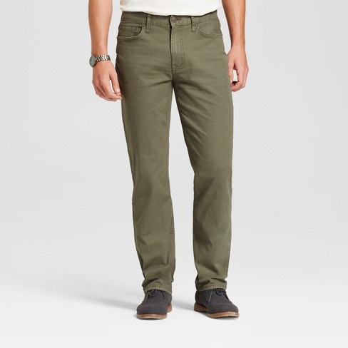 Men's Straight Fit Jeans - Goodfellow & Co™ Olive - image 1 of 5