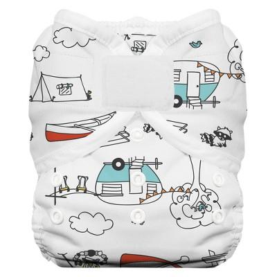 Thirsties Duo Wrap Hook & Loop Diaper, Size Two - Happy Camper