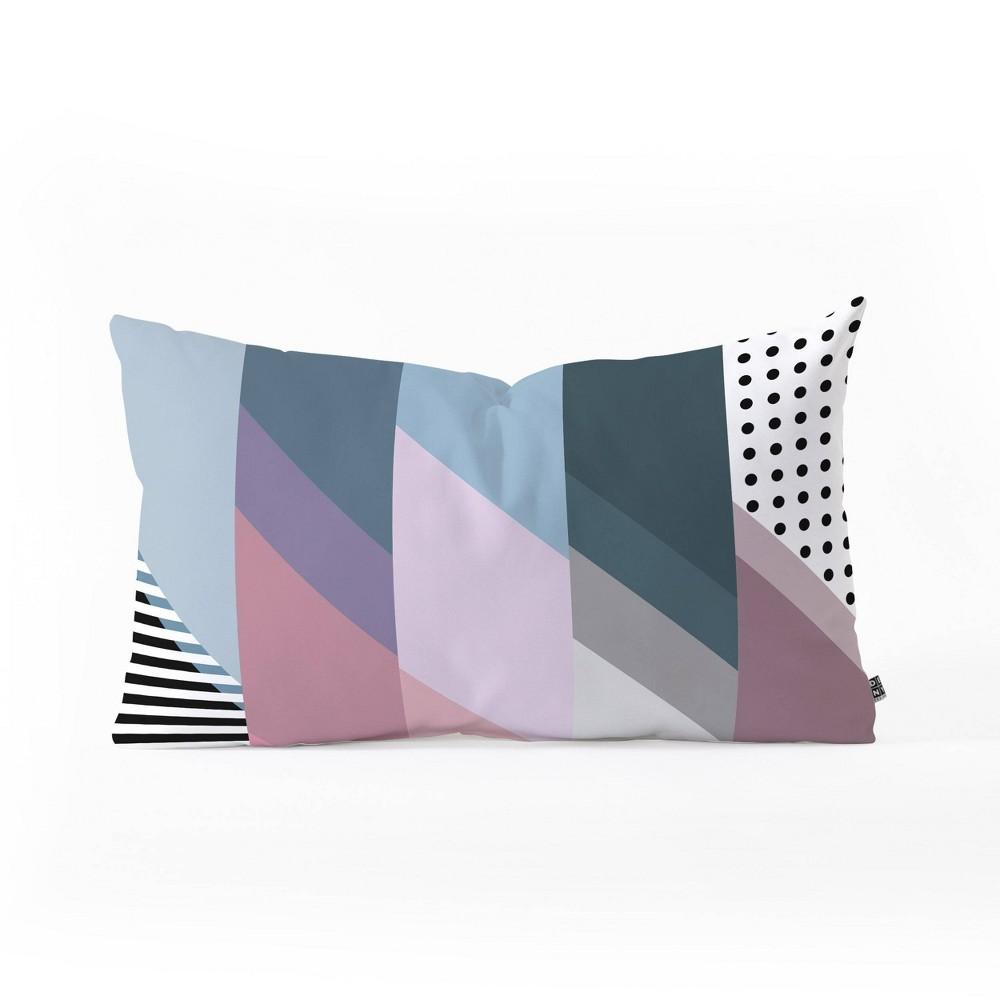 14 34 X23 34 Mareike Boehmer Geometry Blocking 9 Lumbar Throw Pillow Pink Deny Designs