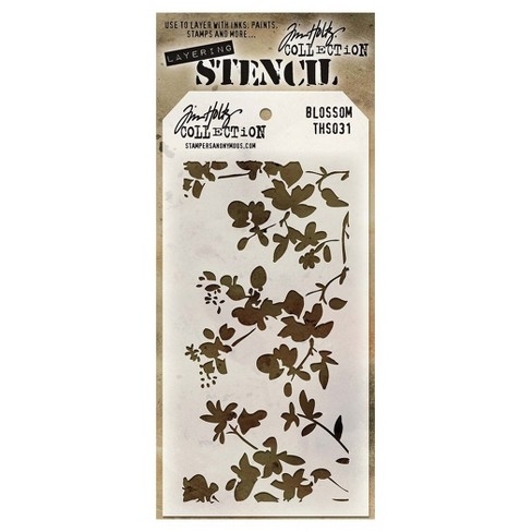 "Tim Holtz Layered Stencil Blossom-White 4.125""x8.5"" - image 1 of 1"