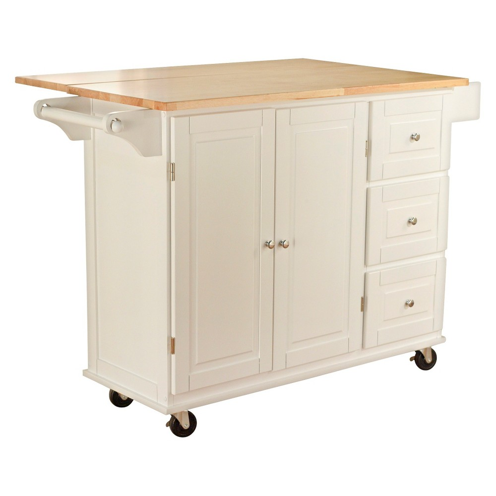 Aspen Kitchen Cart - White