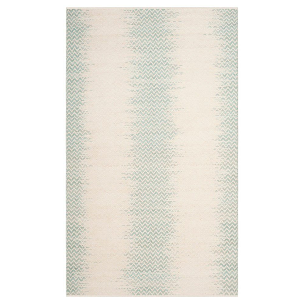 Light Green/Ivory Abstract Loomed Area Rug - (5'X8') - Safavieh