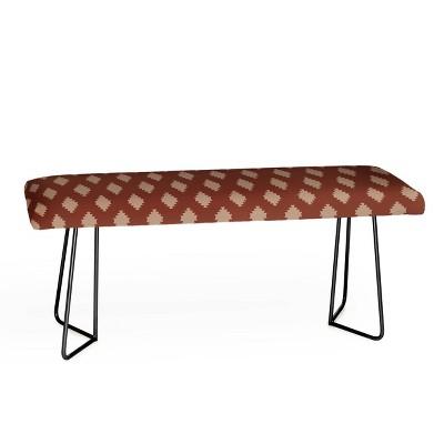 Holli Zollinger Taos Tile Marsala Bench - Deny Designs