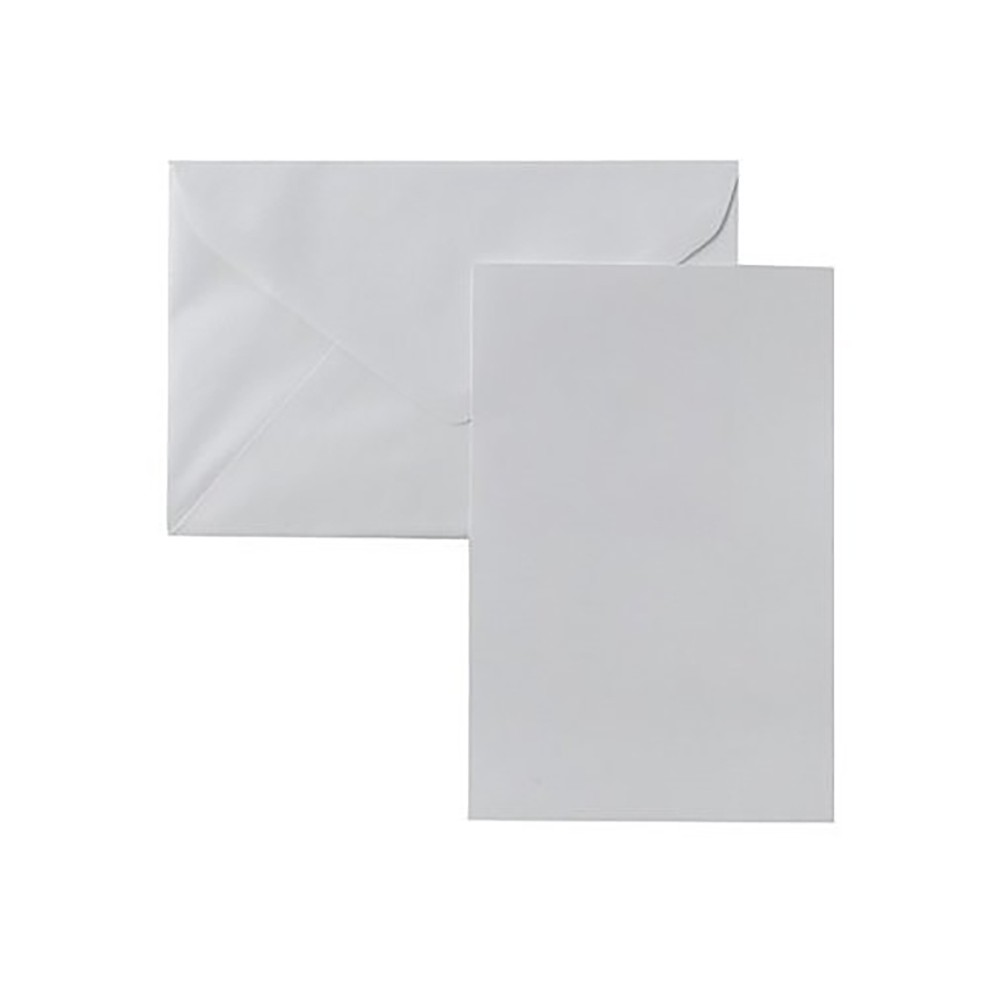 Image of Blank Note Cards with Envelopes (50ct) - White