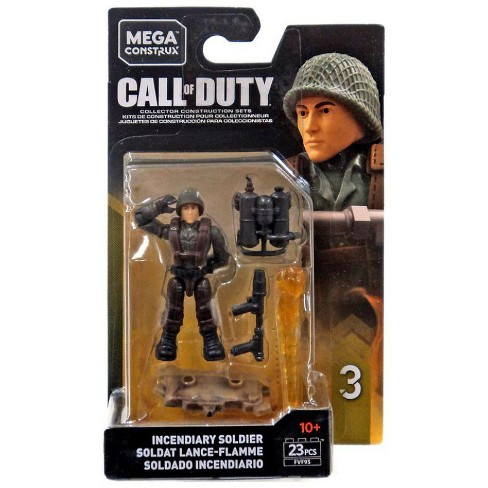 Call Of Duty Mega Construx Specialists Series 3 Incendiary Soldier Mini Figure Target