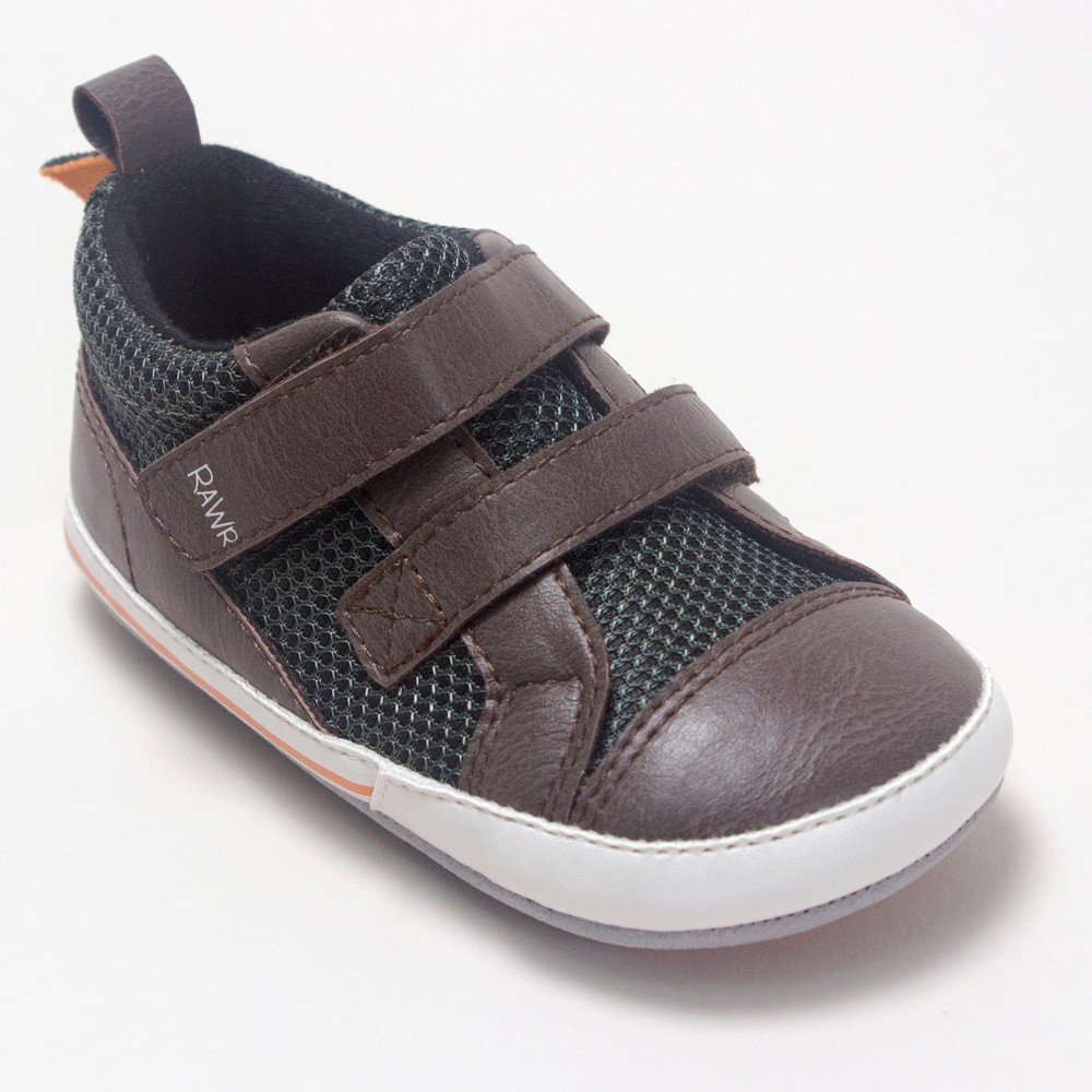 Image of Baby Boys' Ro+Me by Robeez Dinosaur Casual Shoes - Colors Vary 0-6M, Kids Unisex, MultiColored